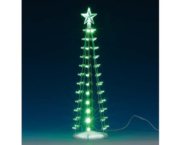 Lemax Lighted Silhouette Tree (Green) B/O (4.5v)