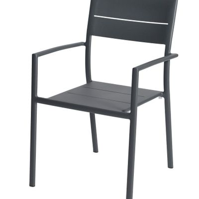 Foto 1 Max&luuk Grace Stacking Chair Alu Anthracite