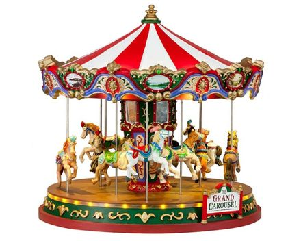 Lemax The Grand Carousel With 4.5v Adaptor (Aa)