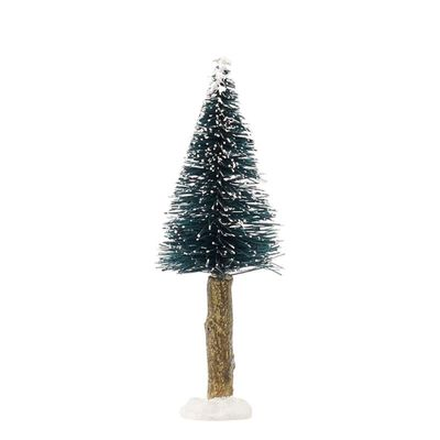Luville Bristle Tree On Log Green 11 Cm
