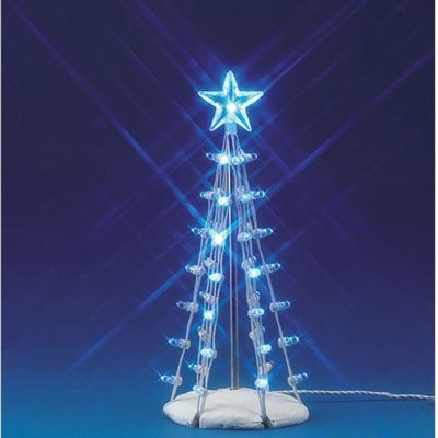 Lighted Silhouette Tree (Blue) M Lemax