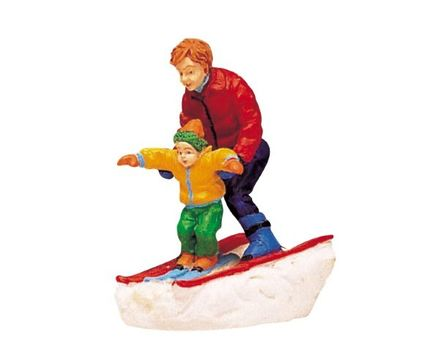 Father & Son Skiing Lemax