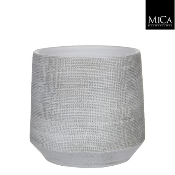 Mica Decorations Guido Pot Rond Off White H26xd29 Cm