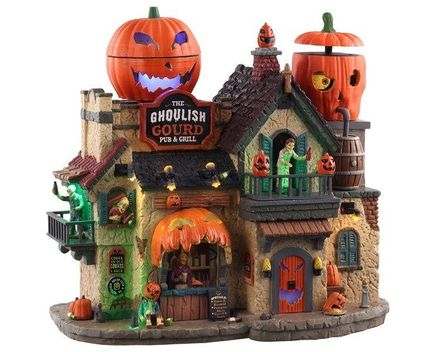 Lemax The Ghoulish Gourd Pub & Grill, With 4.5v Adaptor