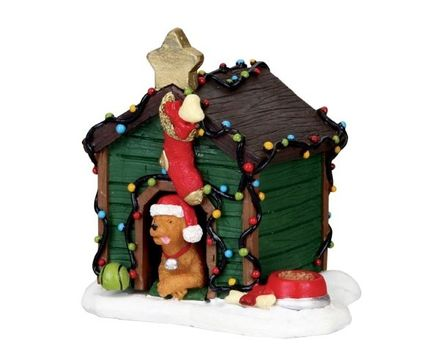 Decorated Light Doghouse Lemax