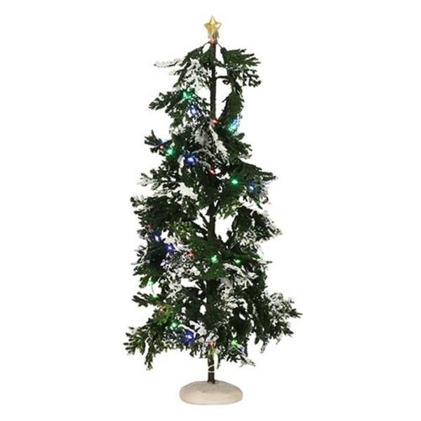 Luville Snowy Conifer With Lights - 40x14 Cm