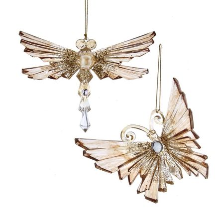 Gold Butterfly/Dragonfly 5.6 Inch