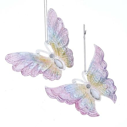 Butterfly With Glitter 5.2 Inch