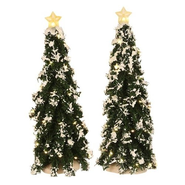 Luville Snowy Conifer With Lights 2 St. - 25x9 Cm