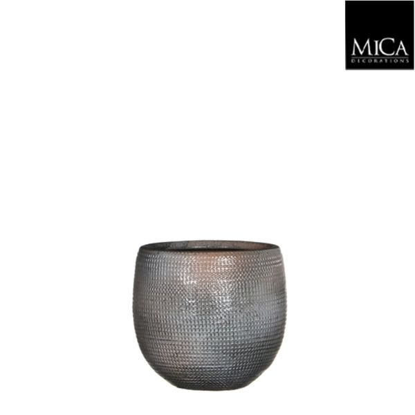Mica Decorations Ingmar Pot Taupe Relief H13xd12 Cm