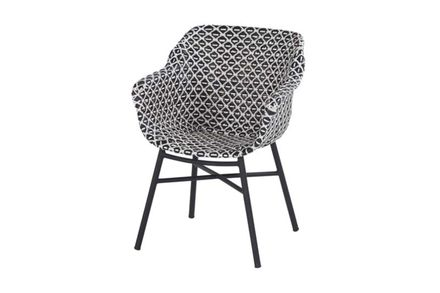 Delphine Dining Chair Black Frame