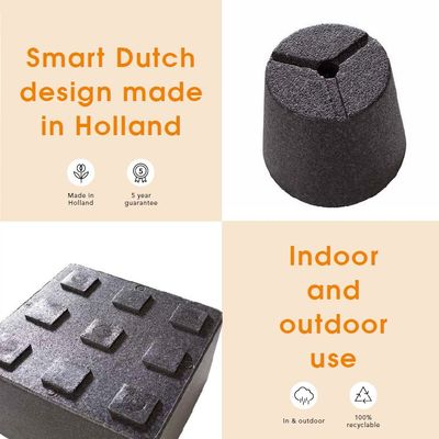 Iq Dutch Design Balkonpot 25,5x15x13 Zwart