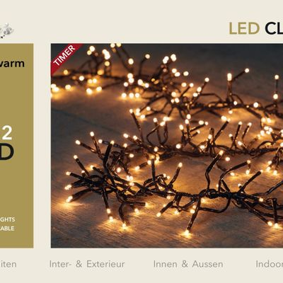 Led Classic Cluster Lights 1152l/6,9m - 4m Aanloopsnoer Zwart - Bi-Bui Trafo Anna's Collection