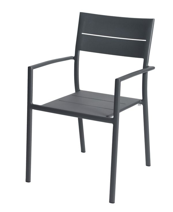 Max&luuk Grace Stacking Chair Alu Anthracite