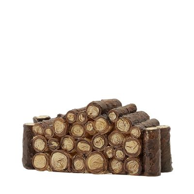 Luville Wooden Log Fence Brown - B
