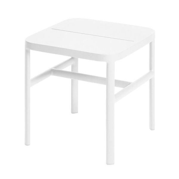 Max&luuk Grace Side Table 40x40x42 Cm Alu White