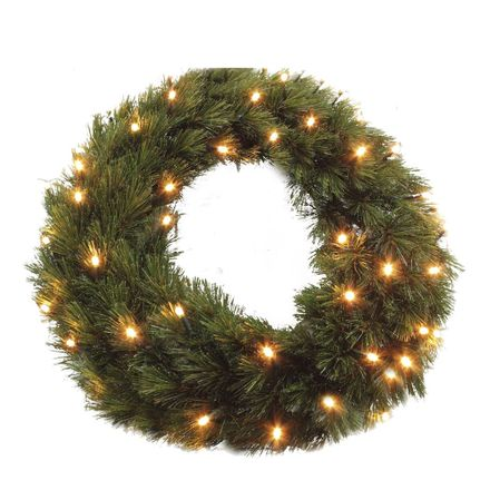 Forest frosted wreath led green 48L TIPS 140 - d45cm