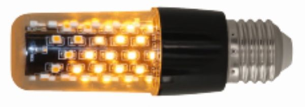 Luxform Lighting E27 Flame Light Black Clear Diffuser