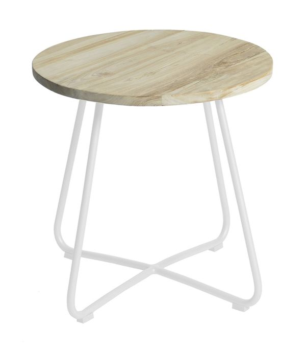 Max&luuk Lily Side Table Diameter56,5x50 Cm Stonewhite