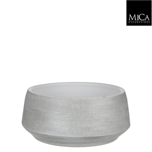 Mica Decorations Guido Schaal Rond Off White H14xd28 Cm