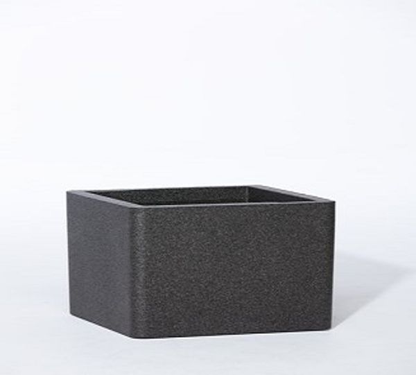 Iq Dutch Design Pot Vierkant 38x38x19,5 Zwart