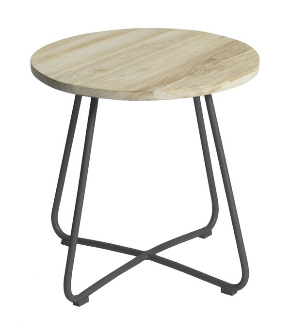 Max&luuk Lily Side Table Diameter56,5x50 Cm Anthracite