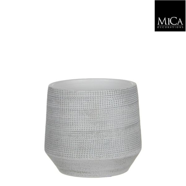 Mica Decorations Guido Pot Rond Off White H17xd19 Cm
